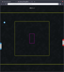 Screenshot 4 displaying a pong reinforcement learning demo that is an official demo project of the lycheejs engine